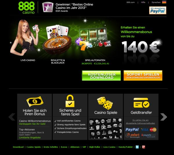 Die besten Bonusangebote bei 888casino