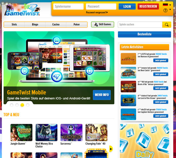 gametwist casino online american pocker